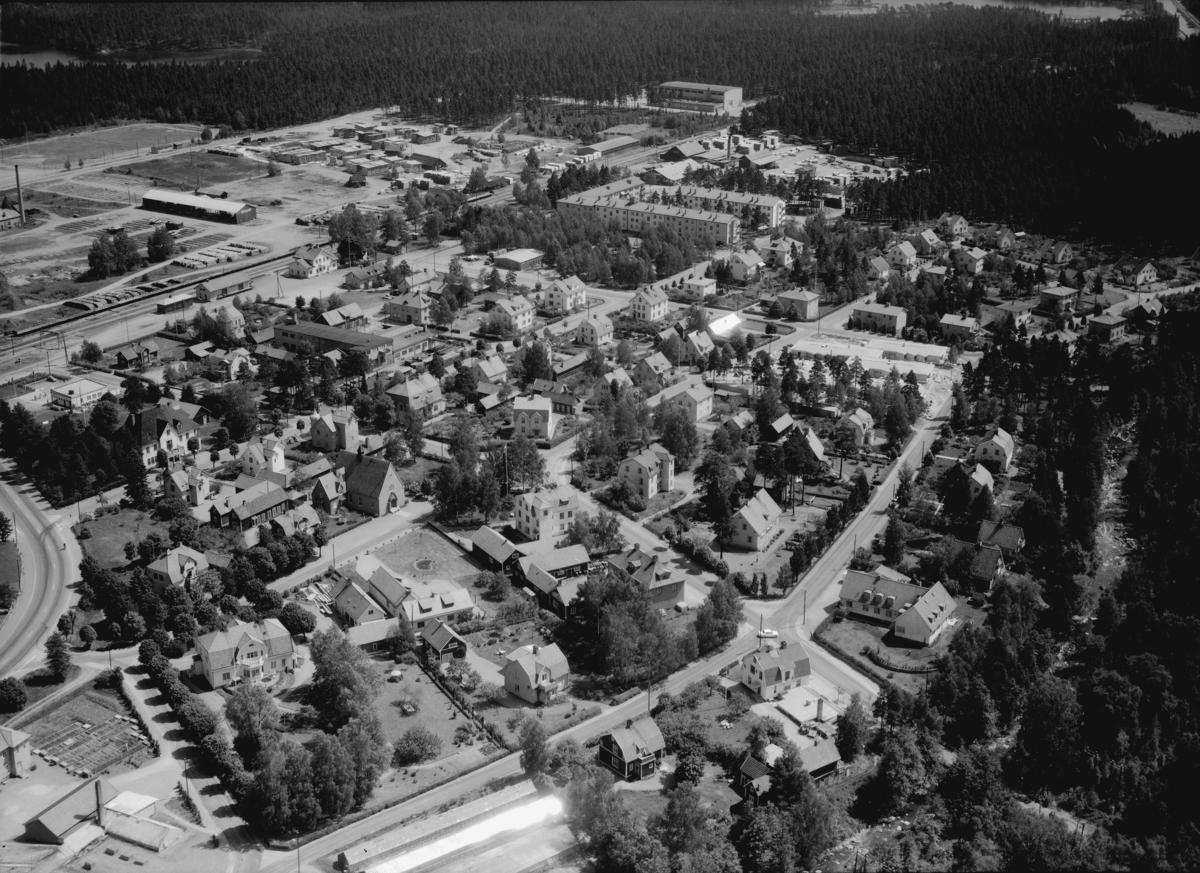 Flygfoto över Mariannelund i Eksjö kommun, Jönköpings län. 757/1964