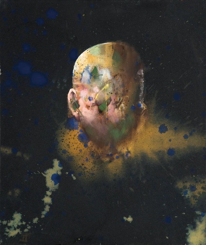 Verket består av seks malerier