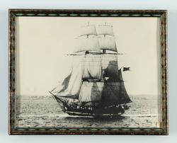 Skeppsgossebriggen Skirner till sjöss