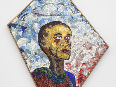 (Detail) Prophète malade 2015 Glass mosaic  130x75x40cm 2015