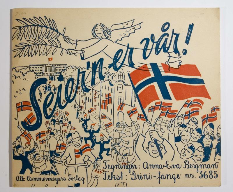 «Seier´n er vår» er en illustrert novelle om da freden kom til Norge i mai 1945. Heftet er illustrert av kunstner Anna-Eva Bergman og er skrevet av Frithjof Lange.