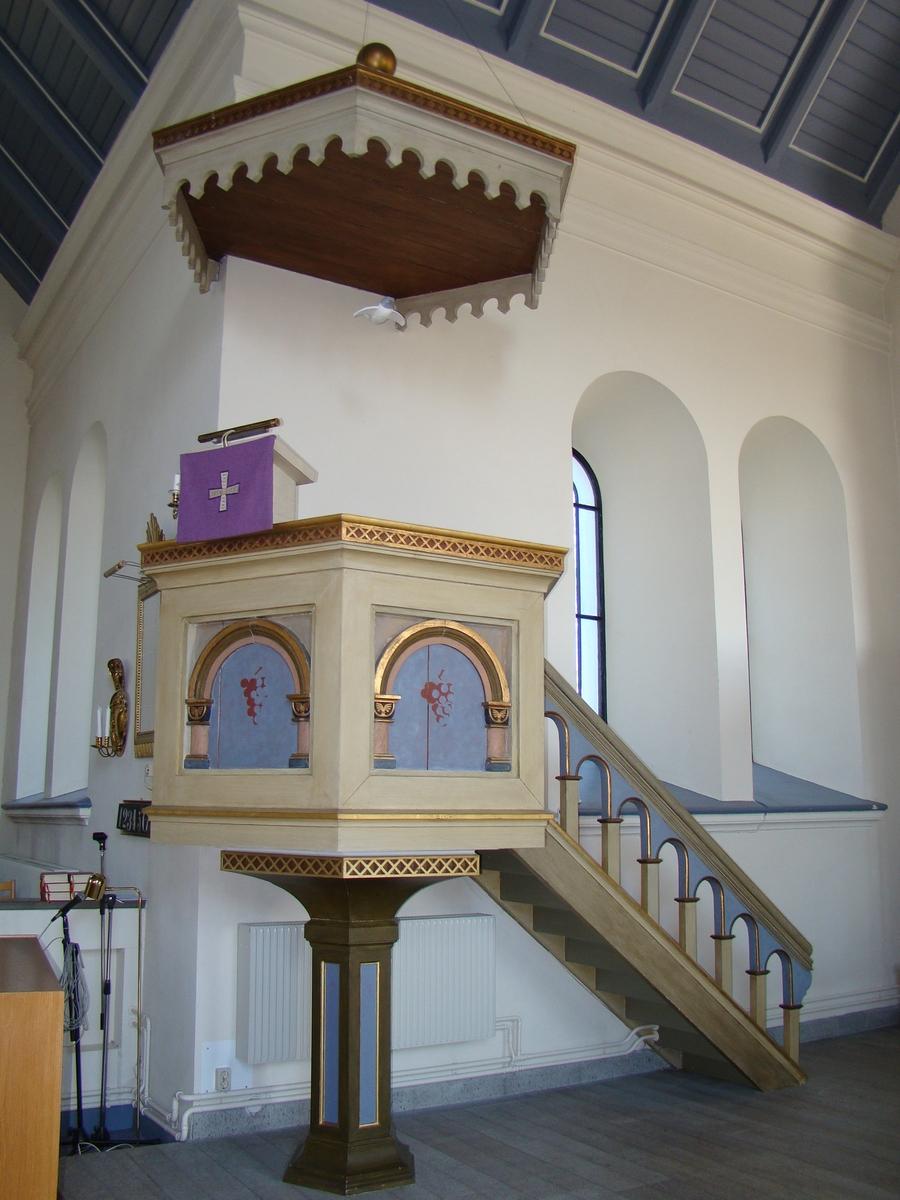 Sankt Sigfrids kyrka, Nybro pastorat. Predikstol.
