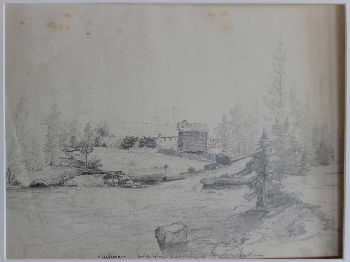 Laggåsqvarn, Gustaf Adolf s:n i Wermland [Blyertsteckning]