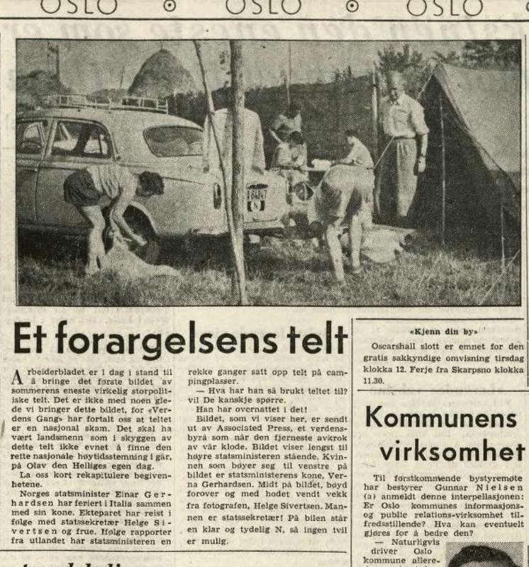 Faksimile. Arbeiderbladet 30.7.1956