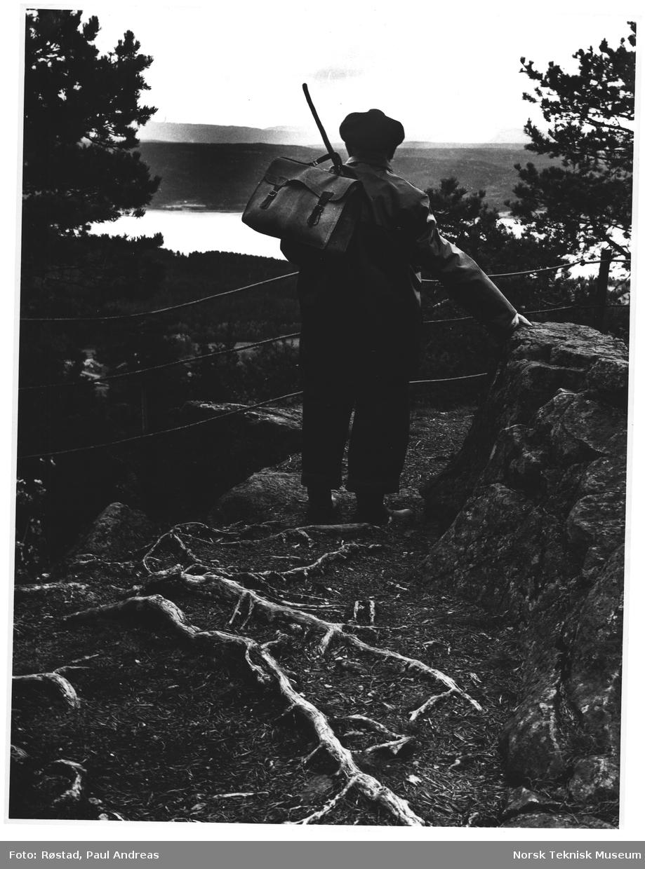 På Sølvsberget 484 m Gran, utsikt Randsfjorden