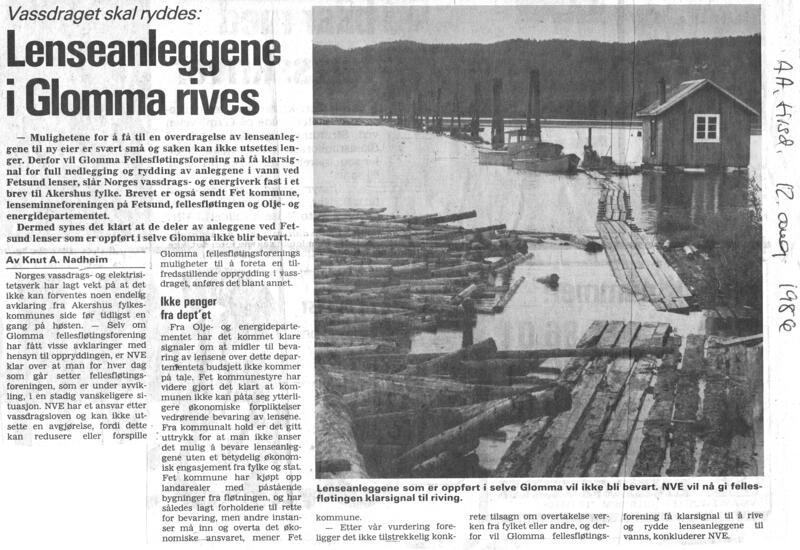 Faksimile fra Akershus Arbeiderblad, august 1986