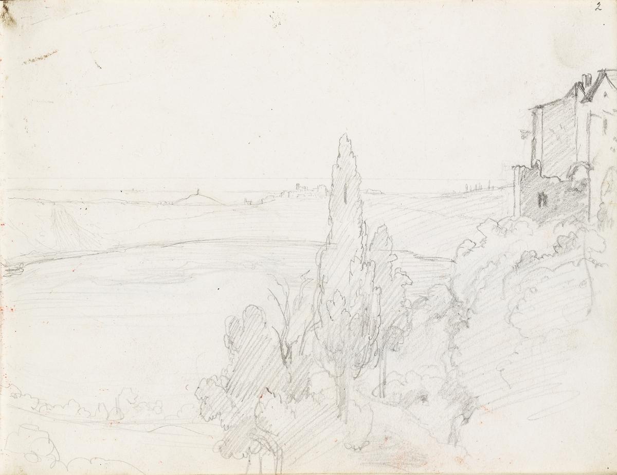 Utsikt over Nemisjøen [Tegning]
