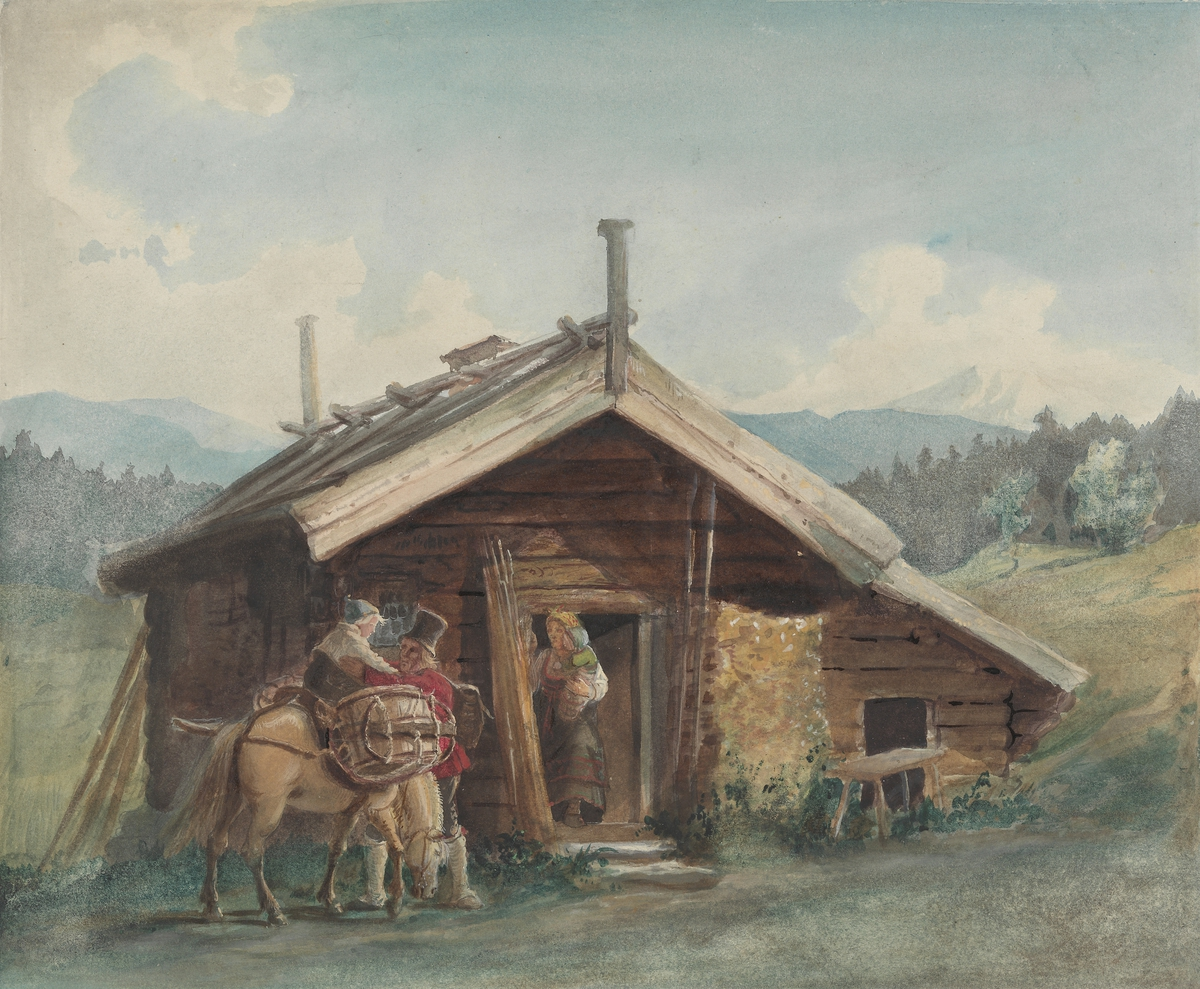 Bondefamilie, Bolkesjø [Tegning]