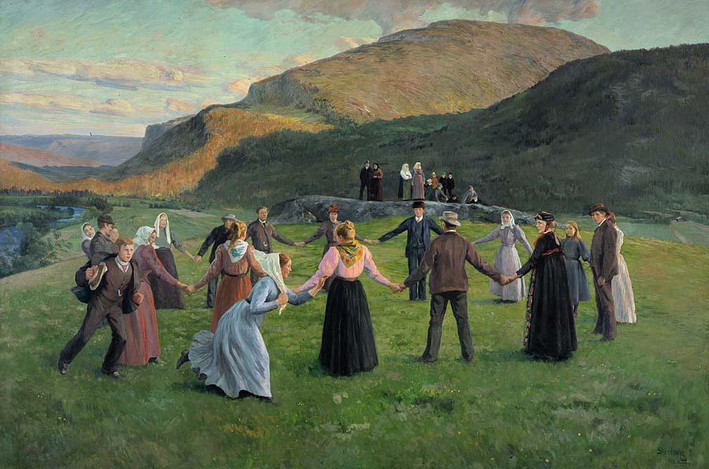Ungdomsfest i Eggedal [Maleri]