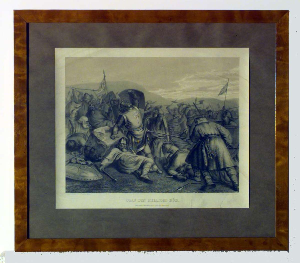 Olav den helliges død. Slaget på Stiklestad i 1030.