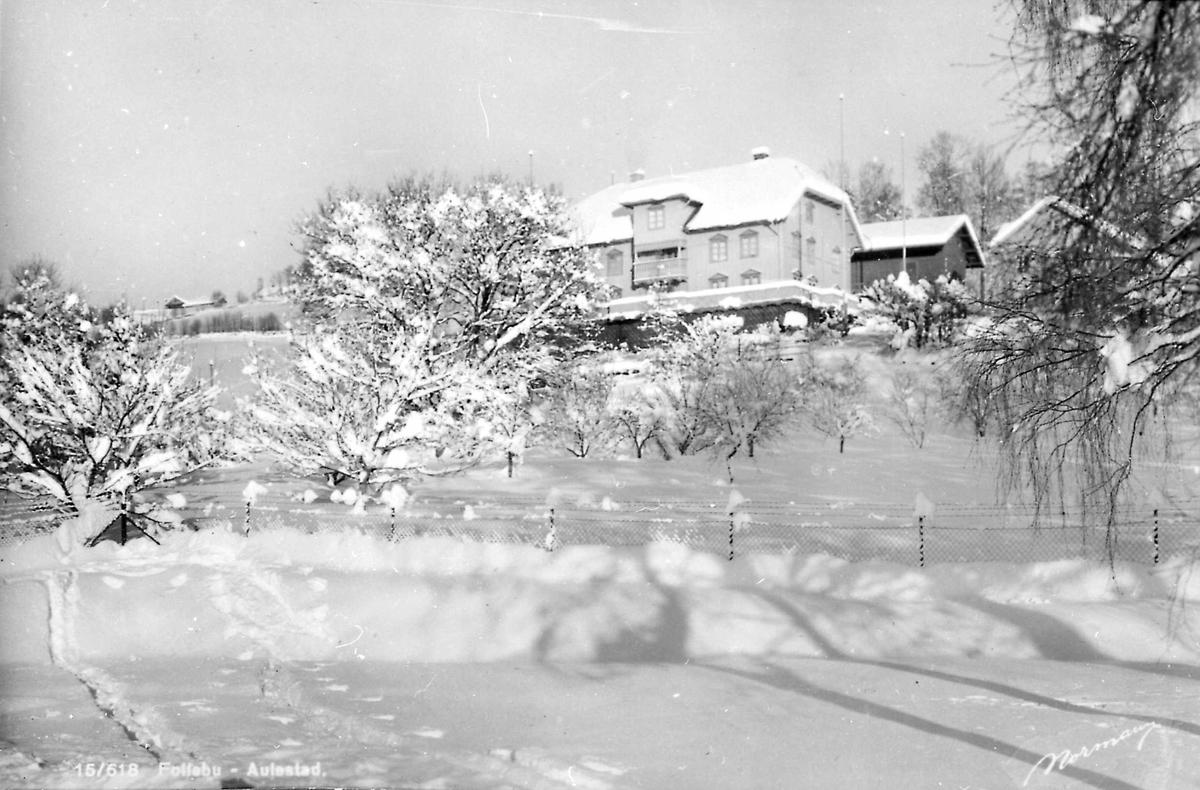 Aulestad, postkort, vinter, snø,
