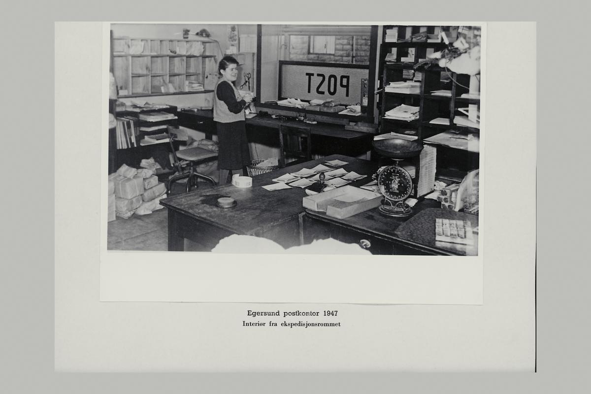 interiør, postkontor, 4370 Egersund, ekspedisjonsrommet, eksprditør, vekt