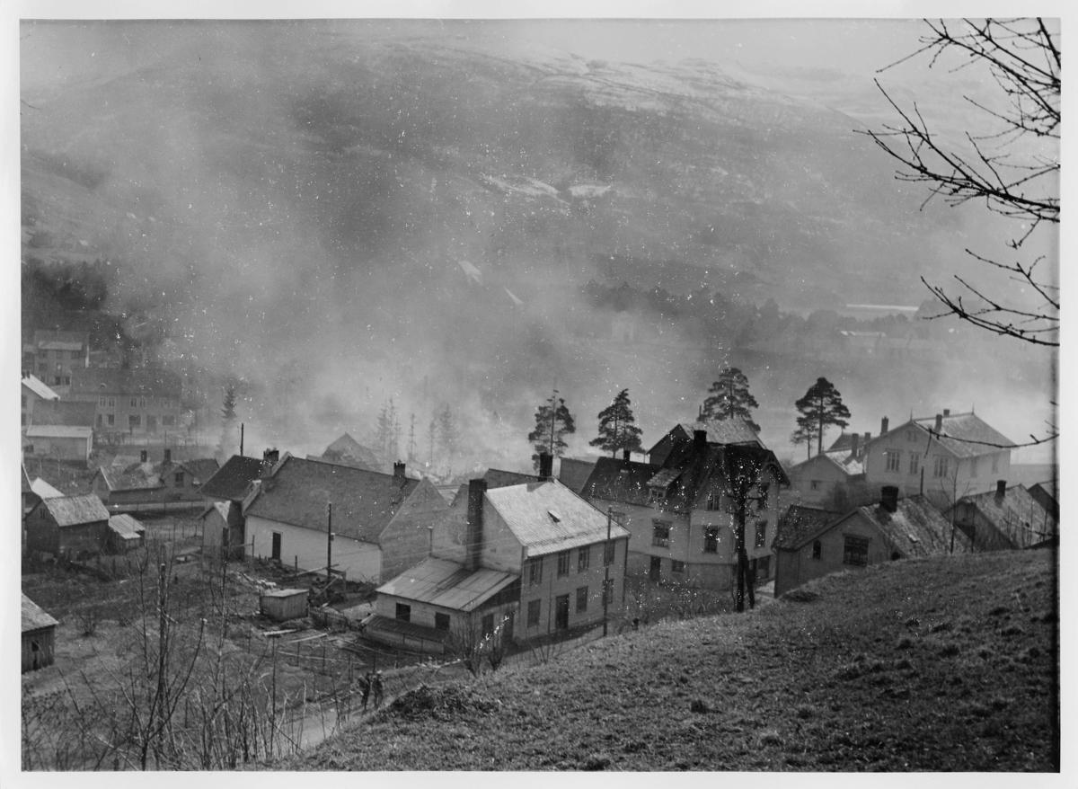 krigen, Voss, eksteriør, ruiner, brann