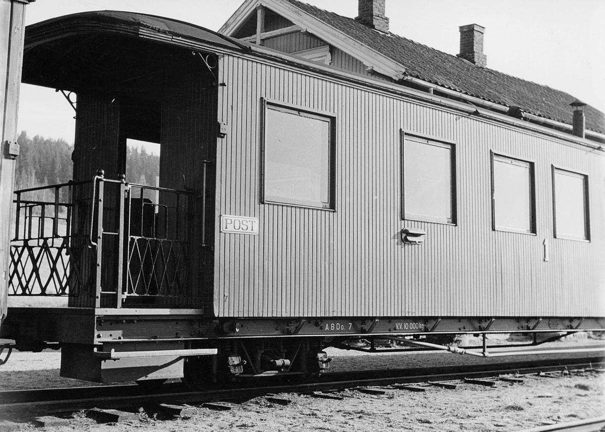 transport, tog, Hølandsbanen, postvogn, postkasse