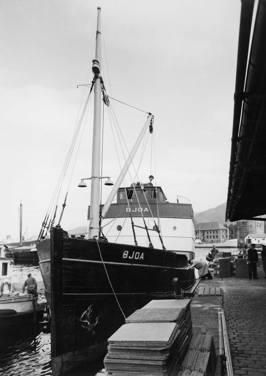 transport, båt, eksteriør, M/S Bjoa, Hardanger-Sunnhordlandske Dampskipsselskap
