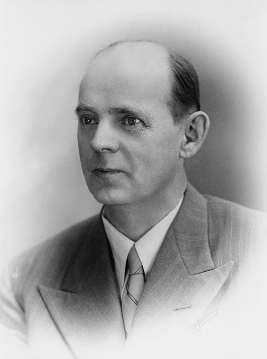 portrett, postmester, Anton Alfred Sofus Forsgren