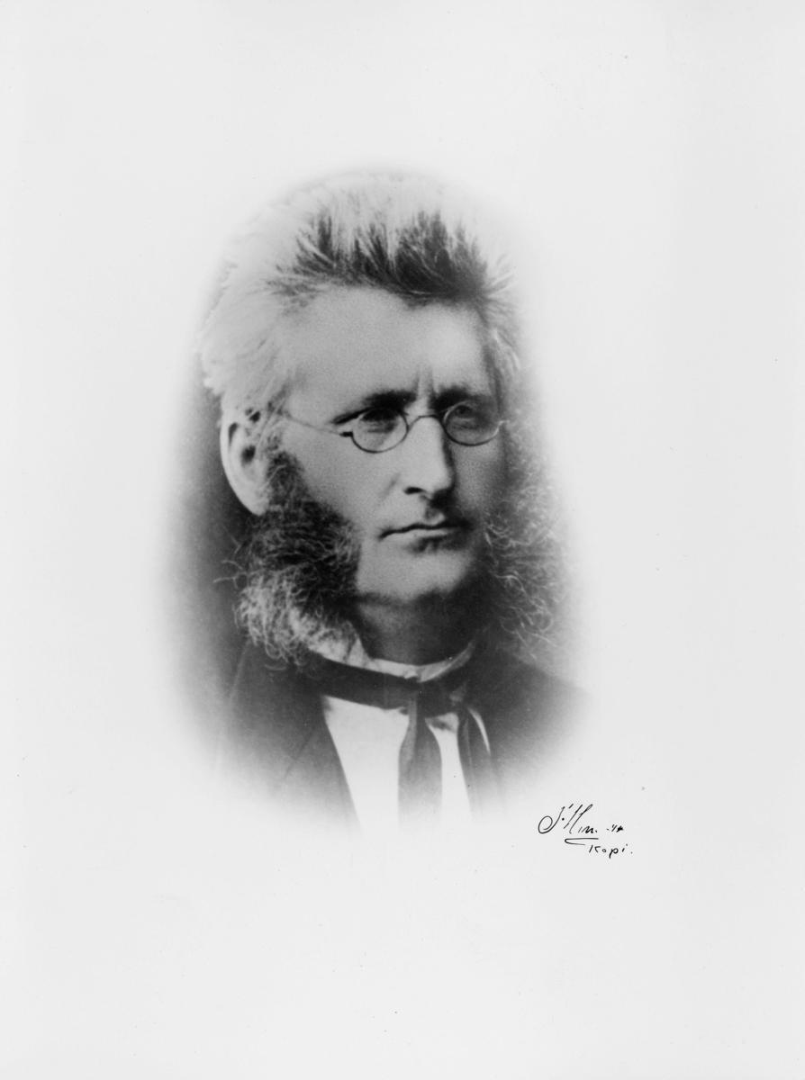 portrett, postmester, Johan Carl Sophus Nannestad