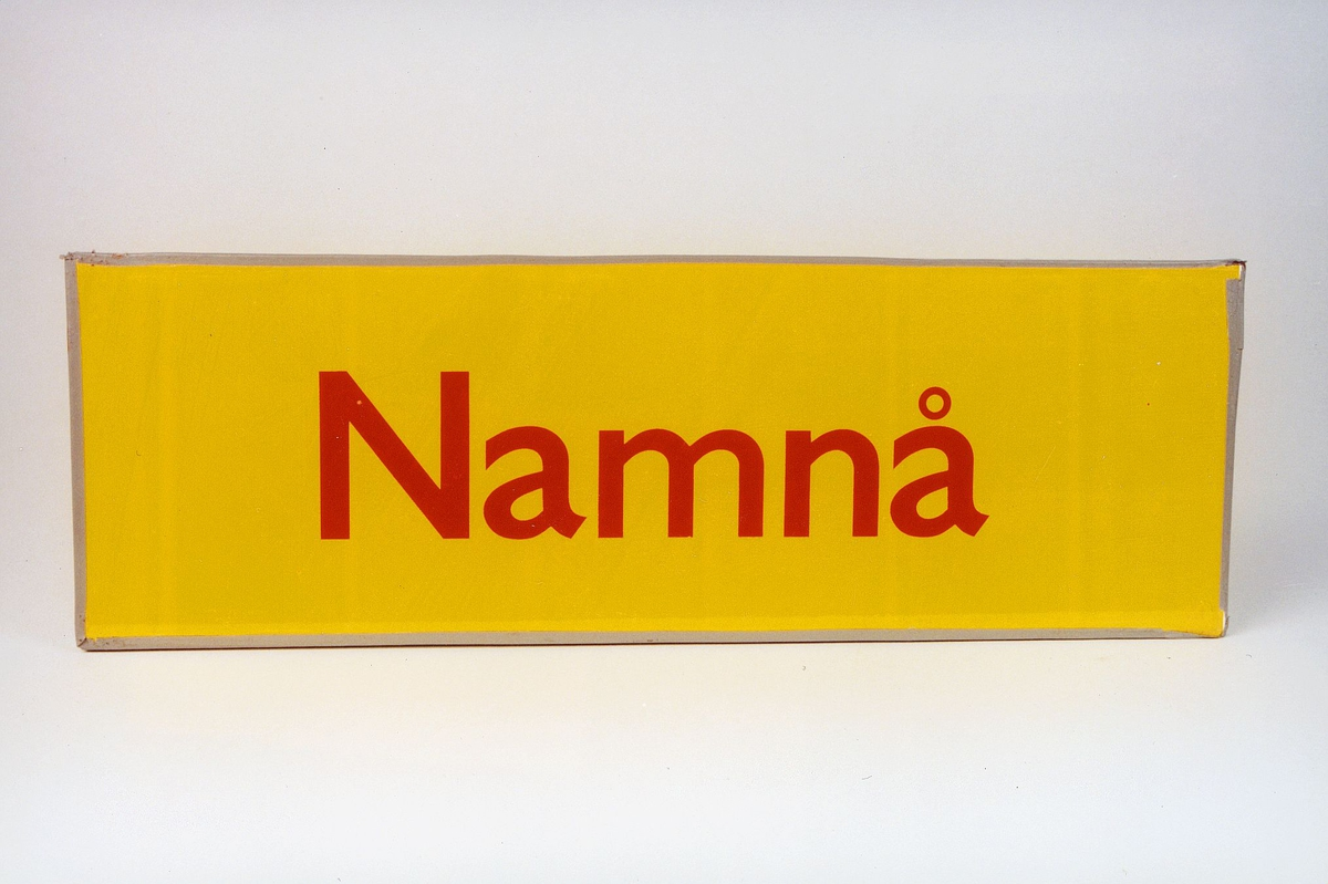 Postmuseet, gjenstander, skilt, stedskilt, stedsnavn, Namnå.
