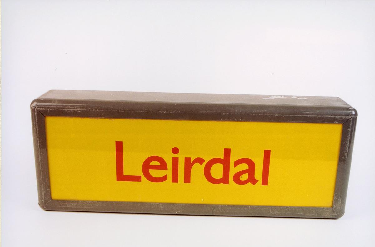 postmuseet, gjenstander, skilt, stedskilt, stedsnavn, Leirdal