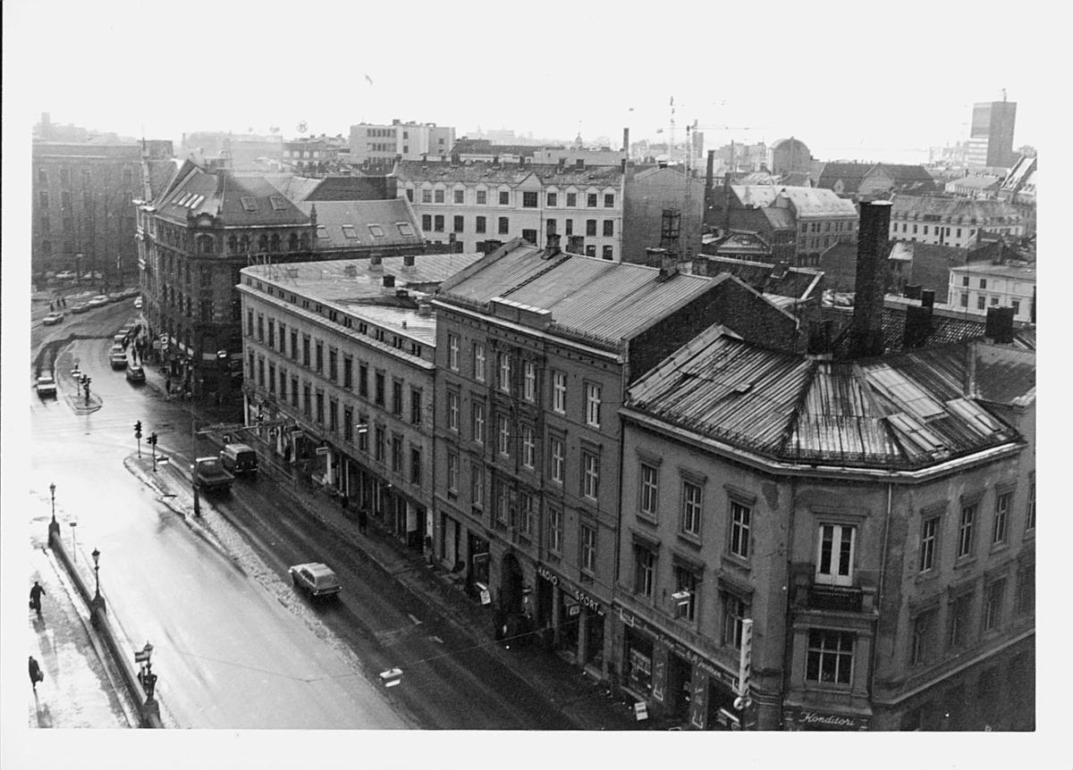 Postsparebanken, Akersgata 68, Oslo, 25-års jubileum, 1975, eksteriør, utsikt
