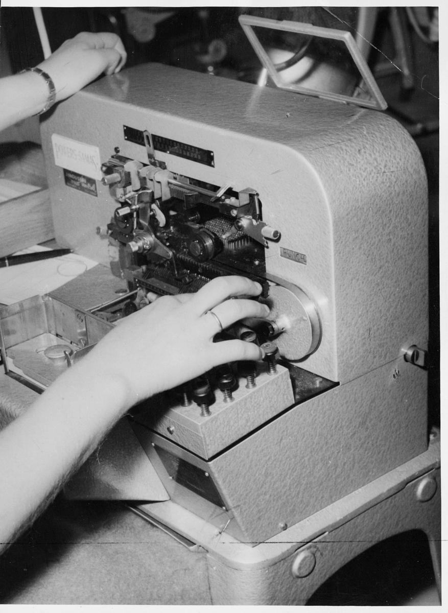 postsparebanken, interiør, maskin