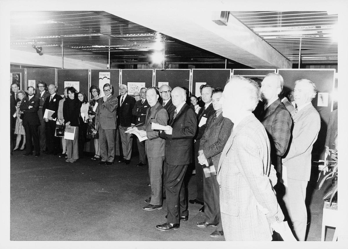 markedsseksjonen, verdenspostforeningen 100 år, utstilling, mennesker