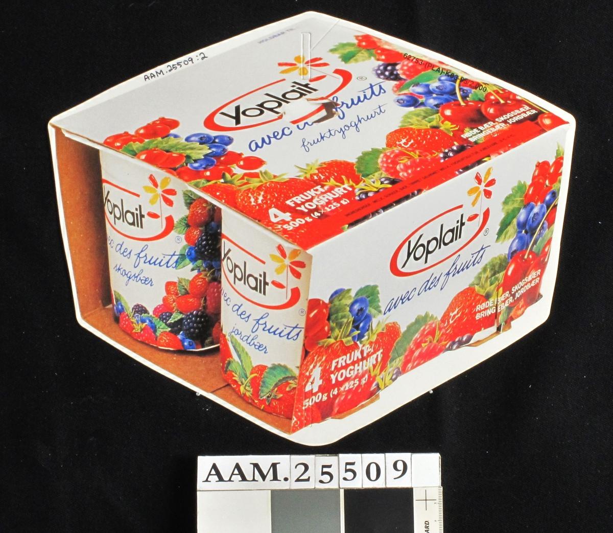 Yoghurtbeger m.emballasje.