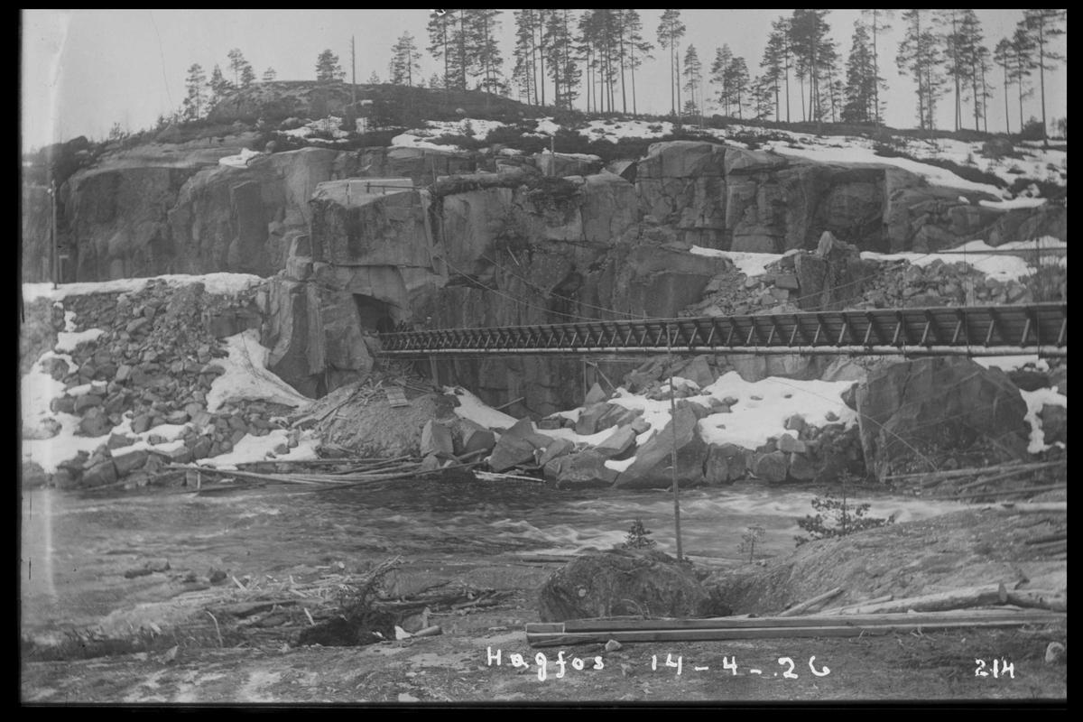 Arendal Fossekompani i begynnelsen av 1900-tallet CD merket 0474, Bilde: 36 Sted: Høgfoss Beskrivelse: Tømmerrenna