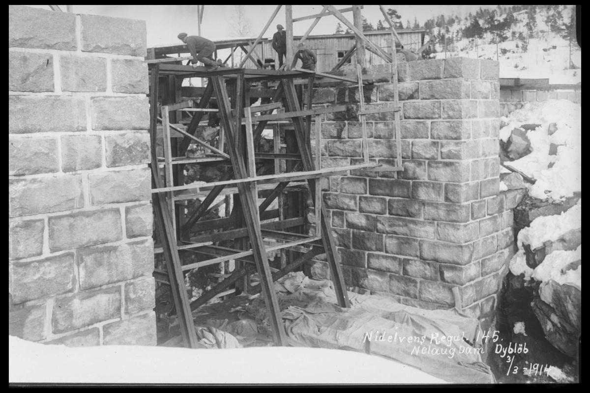 Arendal Fossekompani i begynnelsen av 1900-tallet CD merket 0474, Bilde: 69 Sted: Nelaug Beskrivelse: Damanlegget