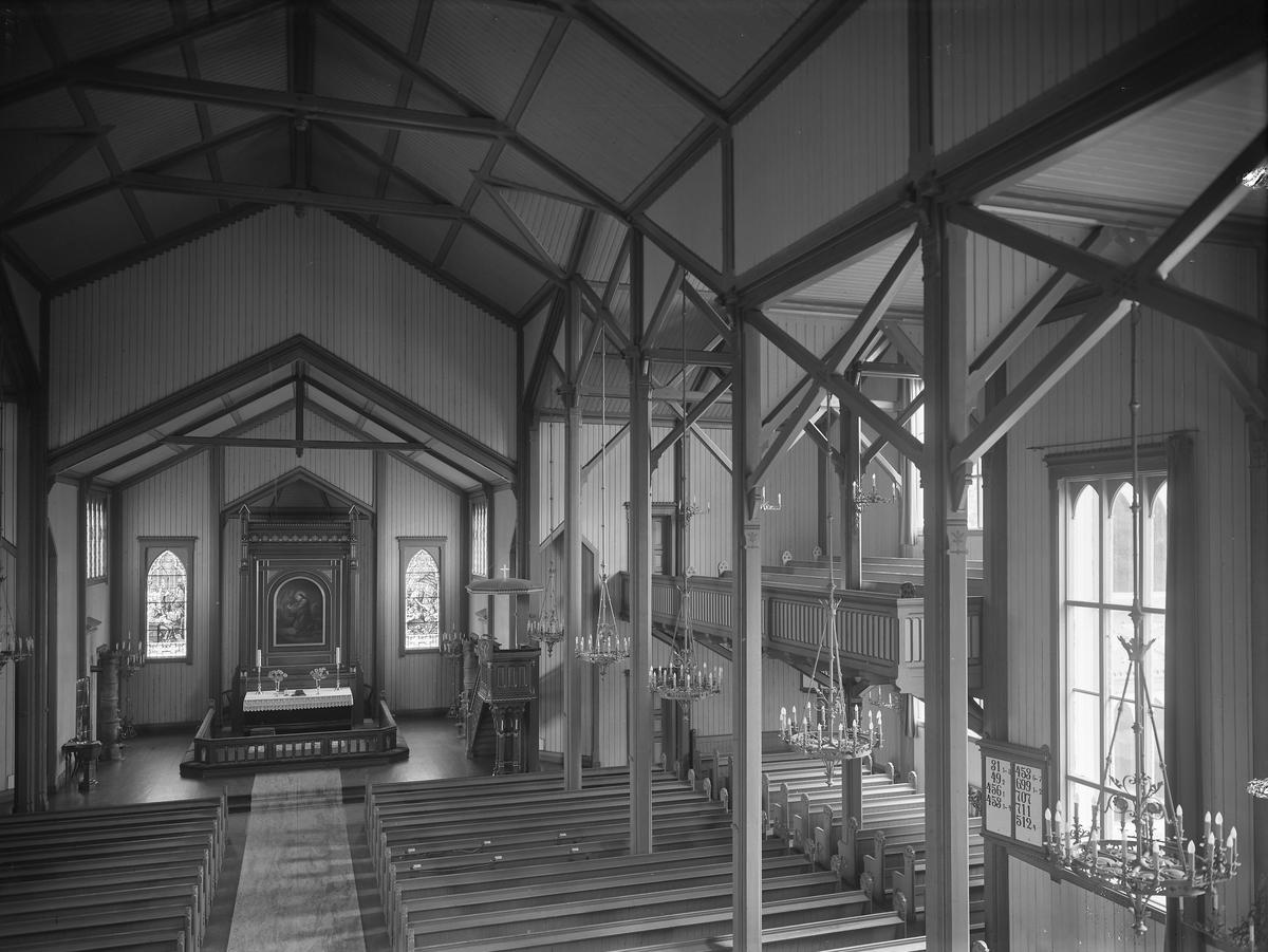 Grimstad kirke Interiørbilde 15.6.1950