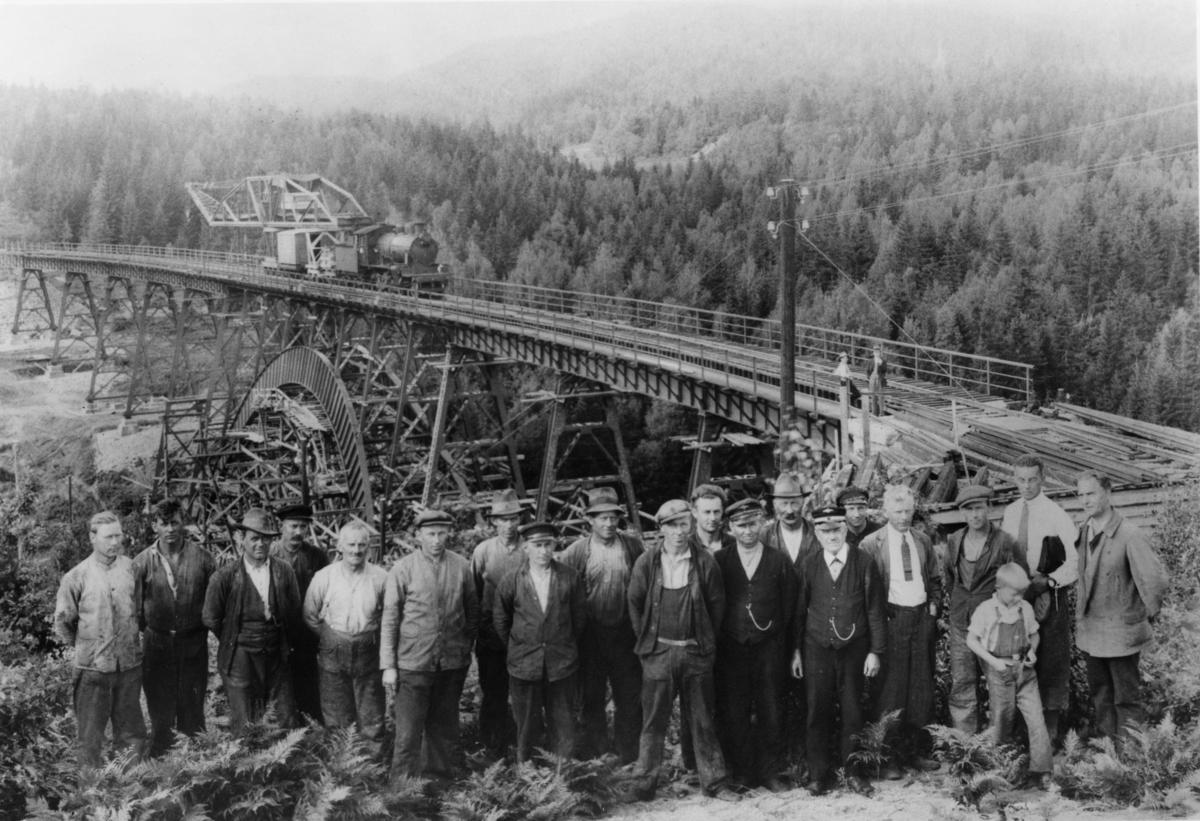 Gjerstad bro Arbeidslag ved Storelva