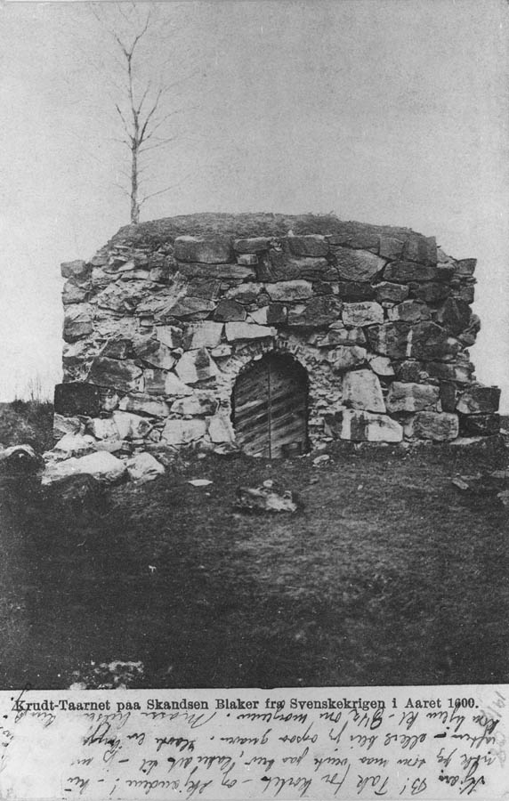 Krutt-tårnet på Skansen Blaker fra svenskekrigen i år 1600.