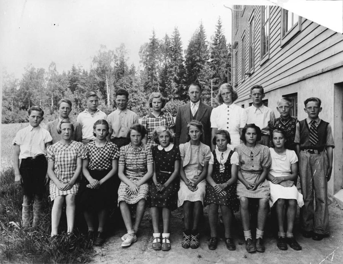 7. klasse ved Langhus skole.