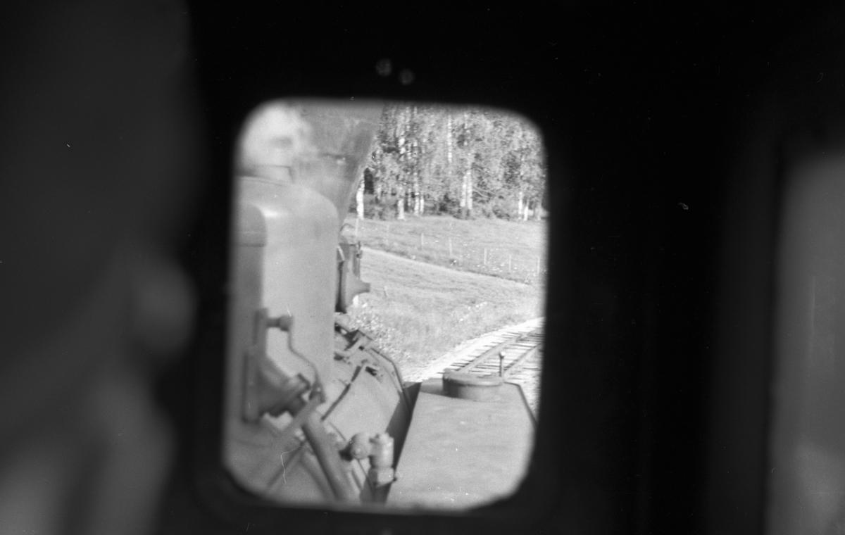 Utsikt fra førerromsvinduet på lokførersiden.
