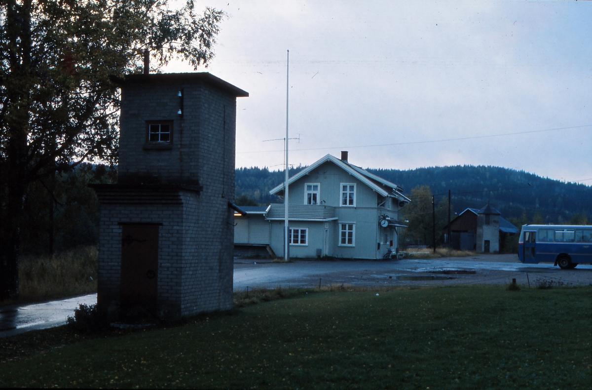 Bjørkelangen stasjon tolv år etter nedleggelsen.