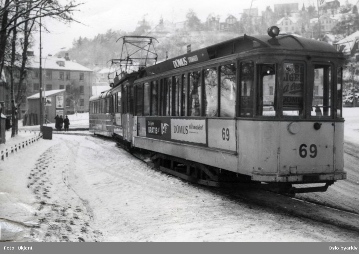Trippelvognsett fra Trondheims sporveier.