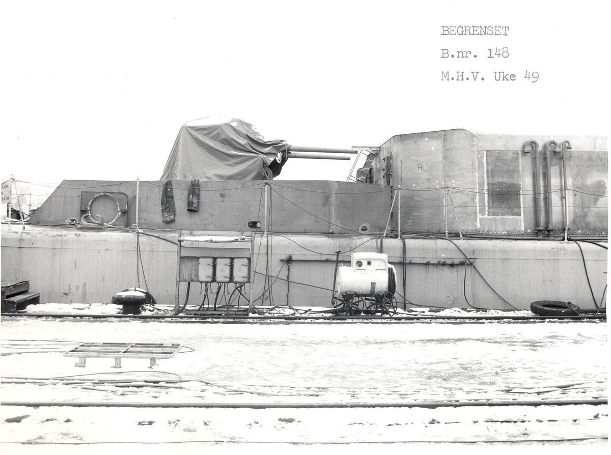 Enkeltbilde. Fregatten KNM Oslo, under byggingen