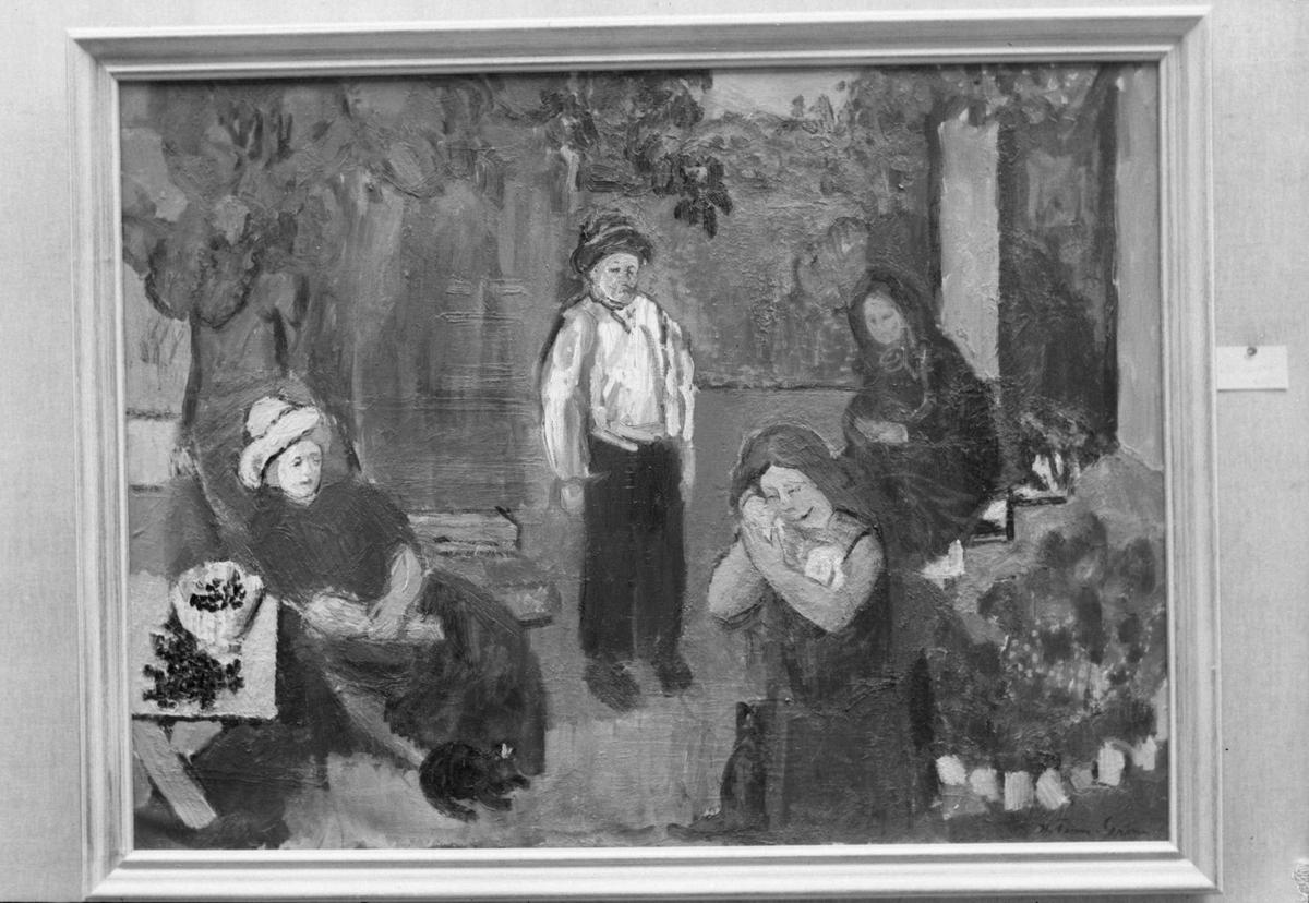 Maleri av Hans Fredrik Leganger Finne-Grønn i Trondhjems Kunstforening