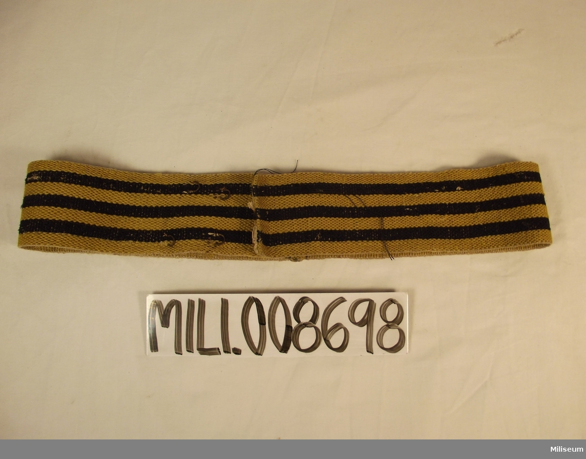 Skärp ca 1820-1840 för manskap vid infanteriet.