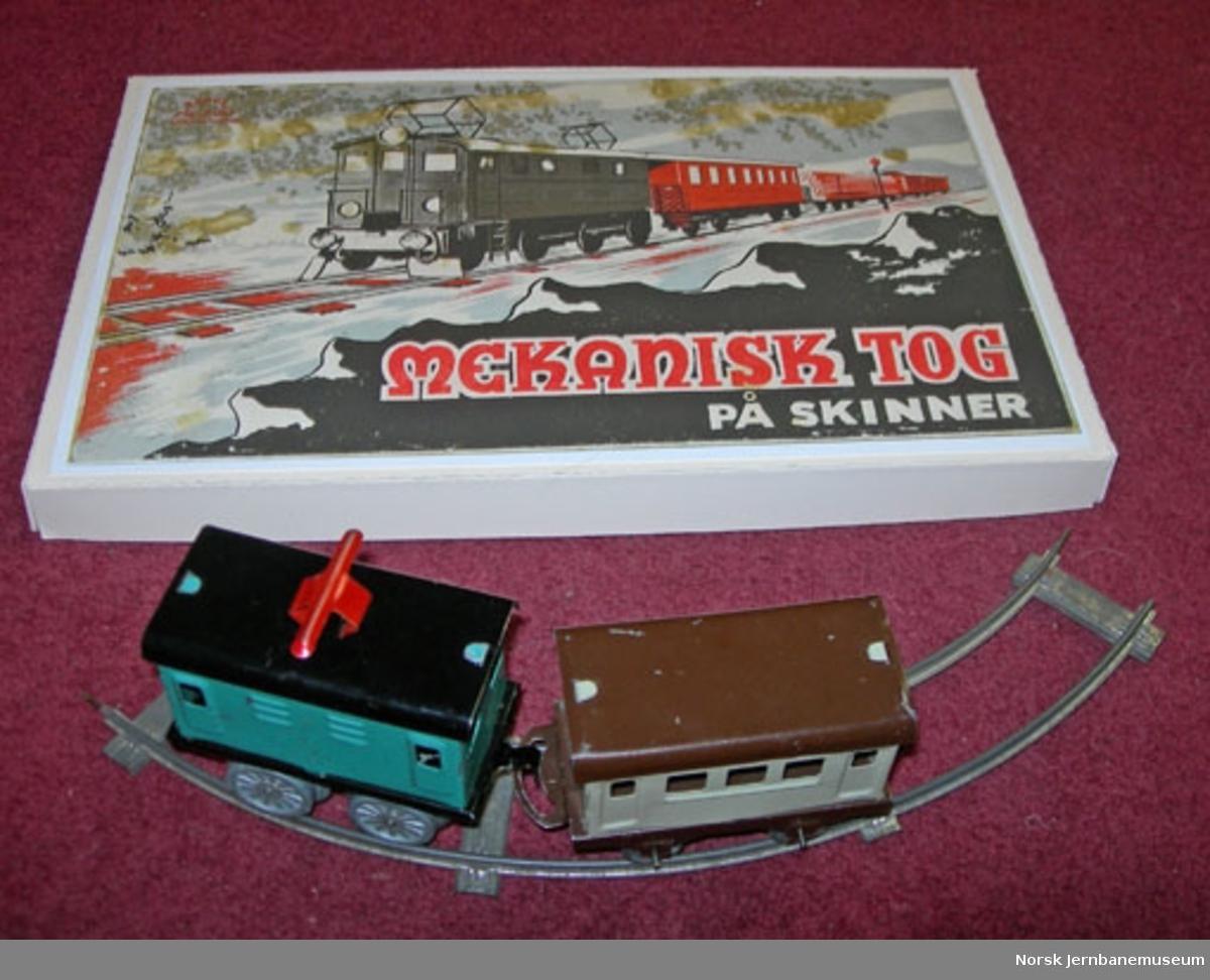 Leketog : elektrisk lokomotiv og skinner