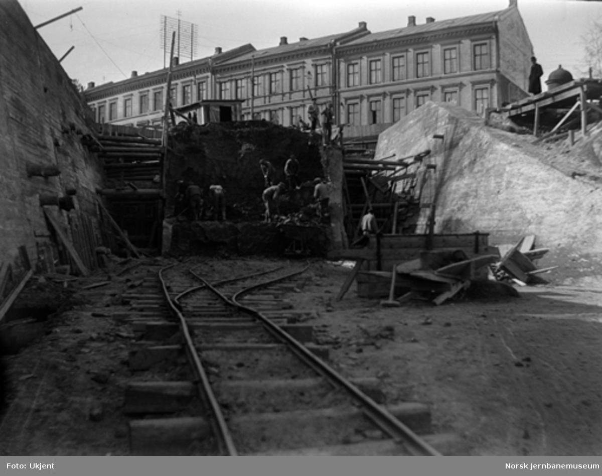 Tunnelarbeidet ved Oslo gate 35