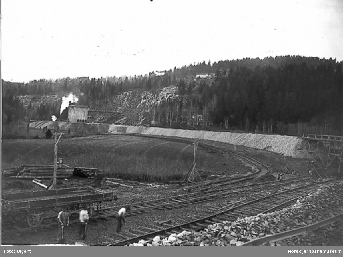Pukkverket og pukksteinslageret på Grorud