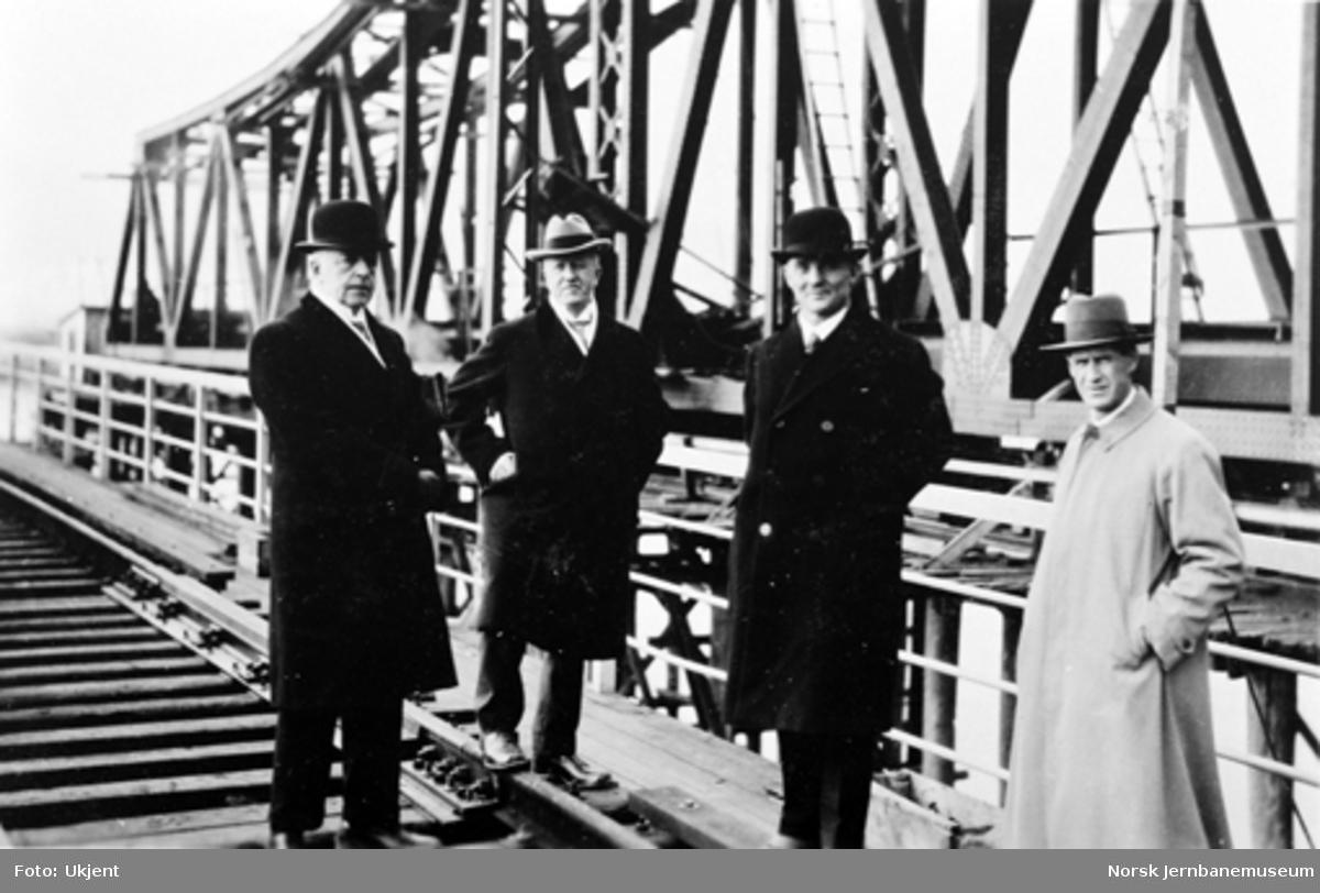 Bru over Drammenselva : Fire herrer på befaring