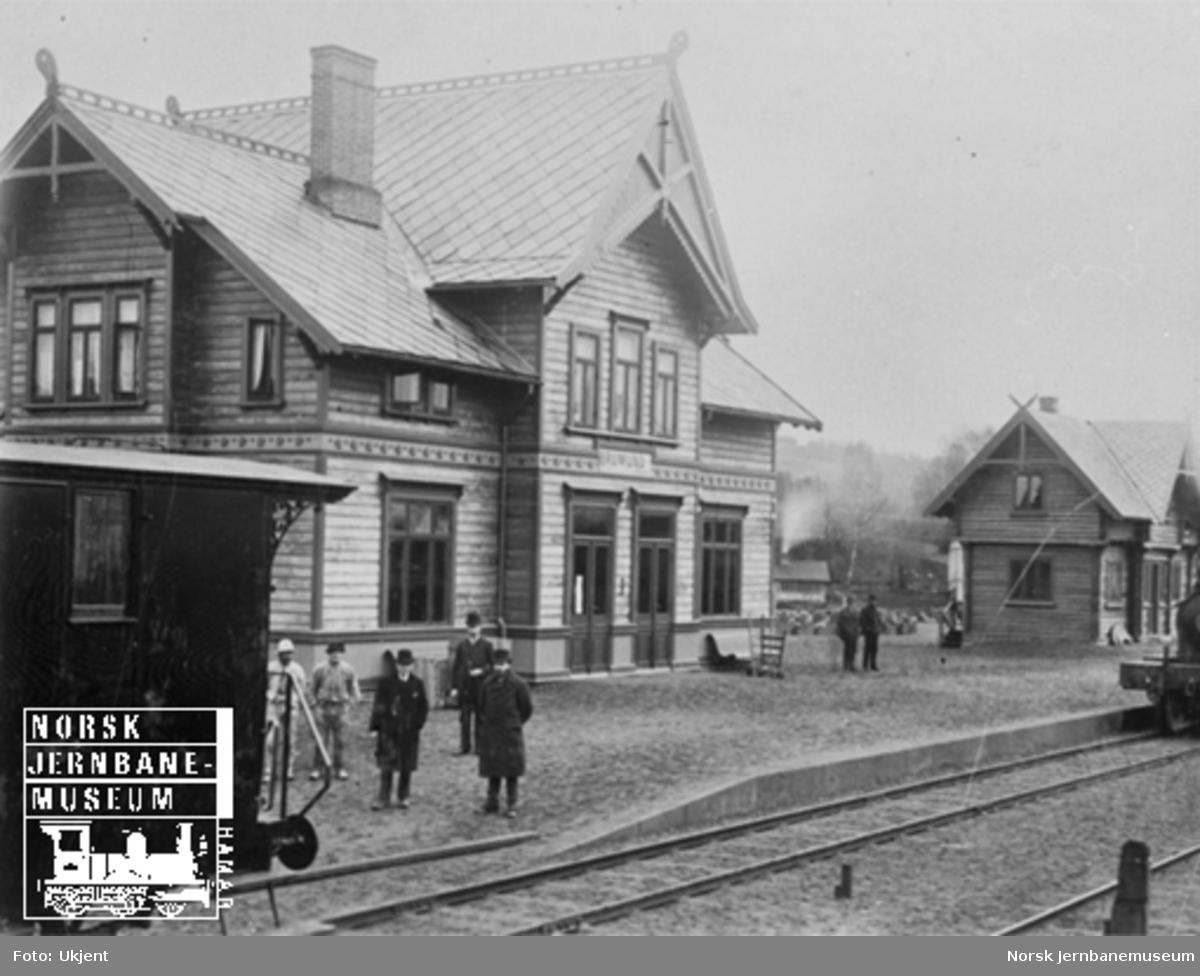 Brumunddal (Brumund) stasjon like før baneåpningen