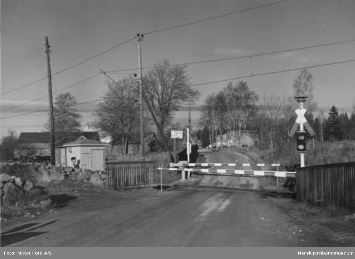 Solberghøgda planovergang på Østfoldbanen, km 71,51