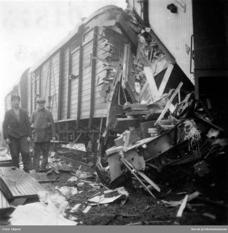 Togsammenstøt på Stange stasjon