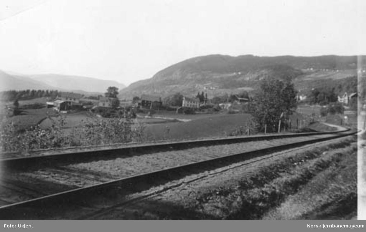 Valdresbanens linjeføring ved Sørei, sør for Aurdal stasjon