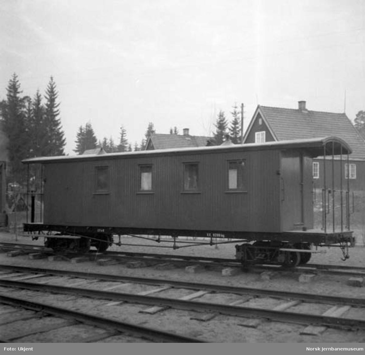 Aurskog-Hølandbanens personvogn CFo 8 på museet