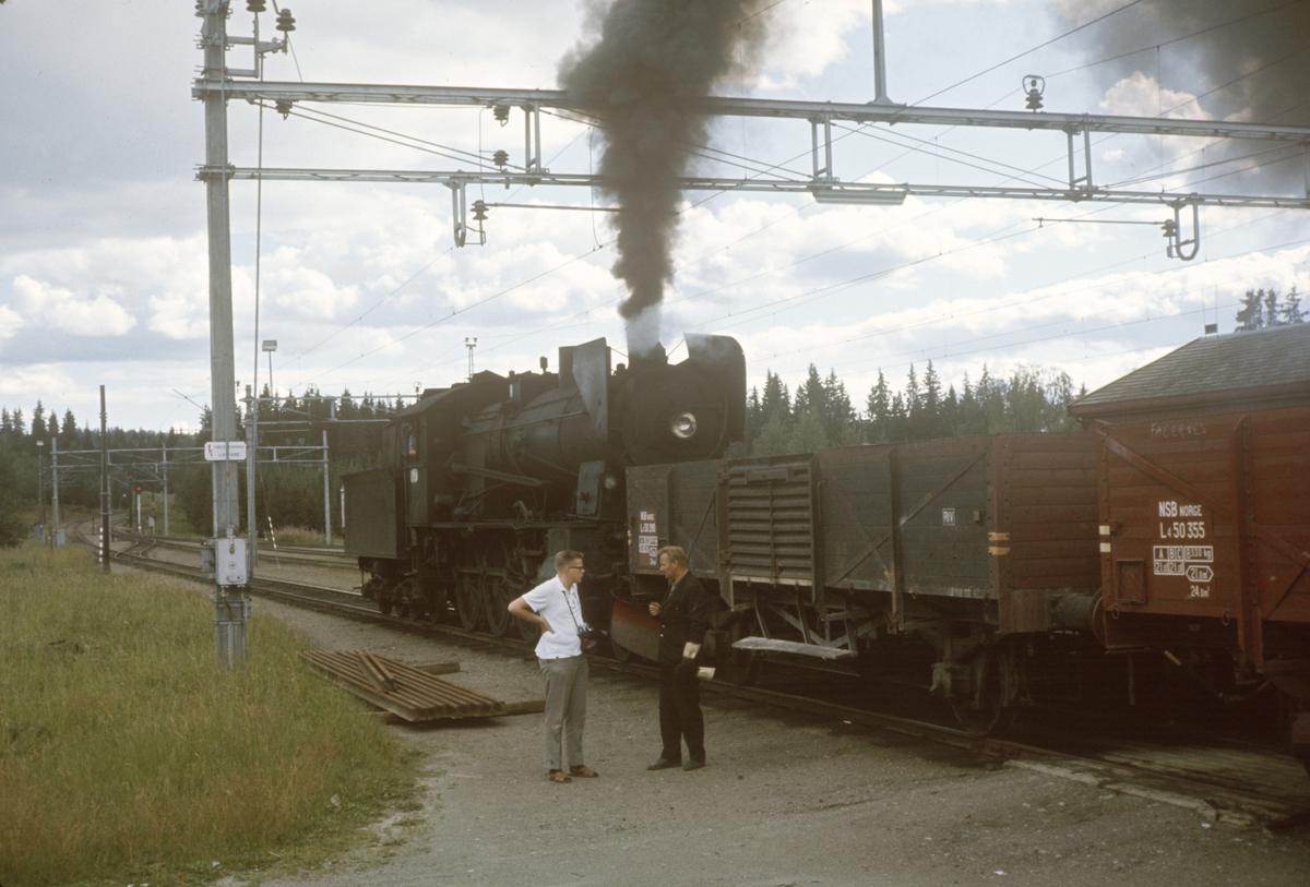 Godstog fra Skreia til Eina på Reinsvoll stasjon.