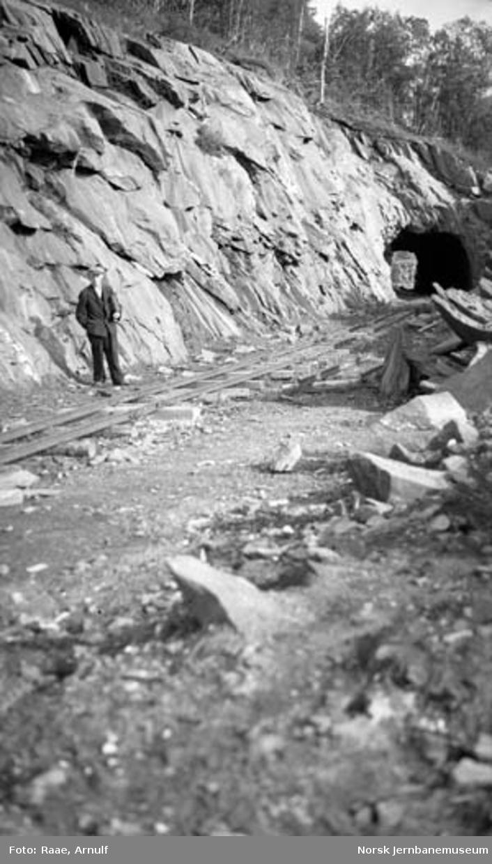 Forskjæring til Nordnes tunnel syd; store renskarbeider gjenstår